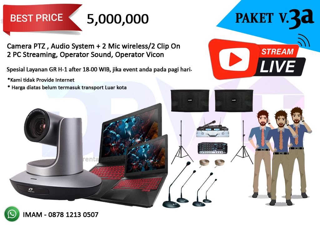 PAKET V3a rental streaming youtube video conference